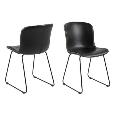 2er-Set Stuhl Tale | Schwarz Vintage
