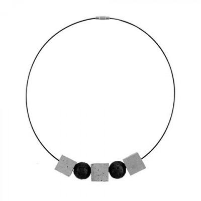 Halskette STRUKTUR | Grau & Schwarz