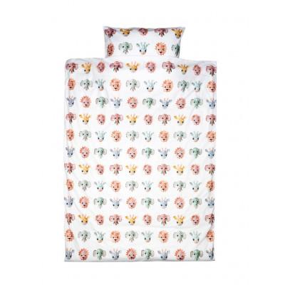 Einzelbett-Deckenbezug   Wildtiere süß