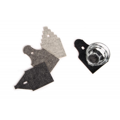 AGH! Coasters   Melange Grey