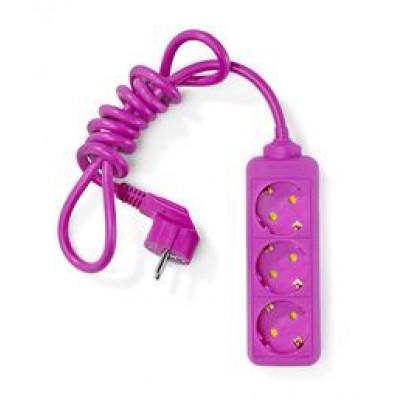 Farbige Steckdosenleiste | Pink