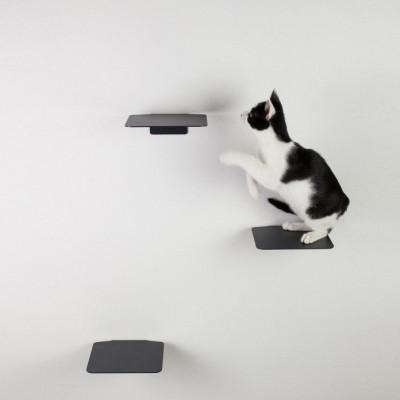 Kletterstufen Katzen Satz von 3 STEPS | Anthrazit