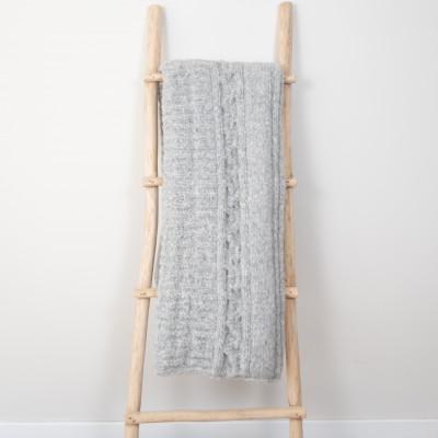 Frida Plaid 150 x 163 cm | Alpakawolle grau