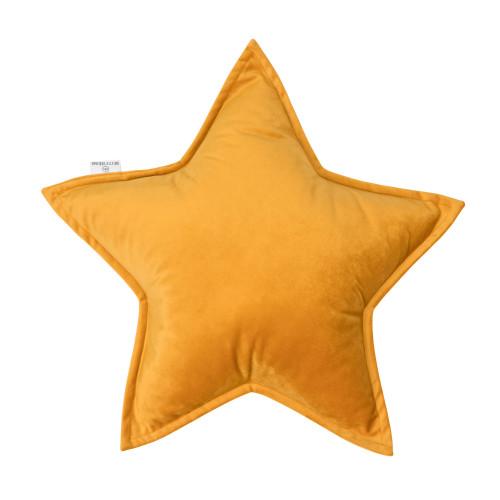 Kissen Little Star Velvet | Gelb