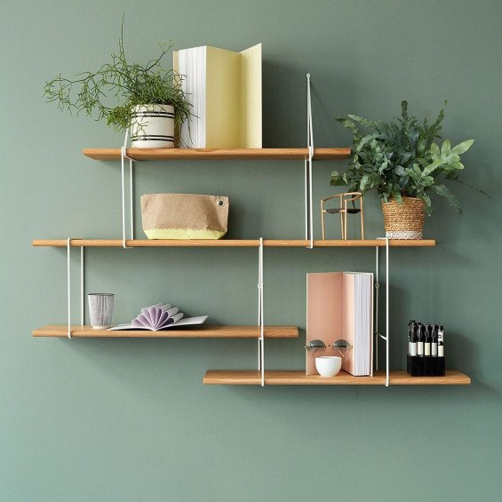Shelving System LINK Duo | Oak White