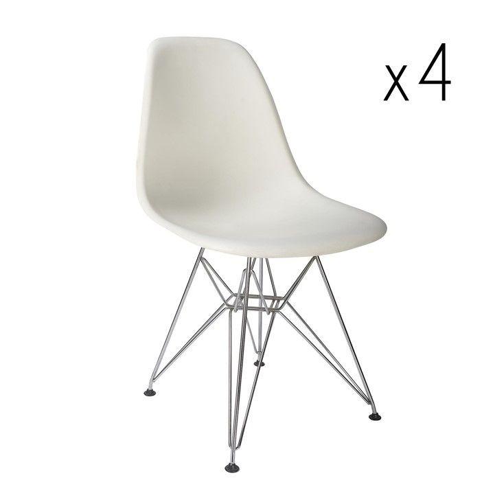 Sono Chaise Set de 4 | Blanc