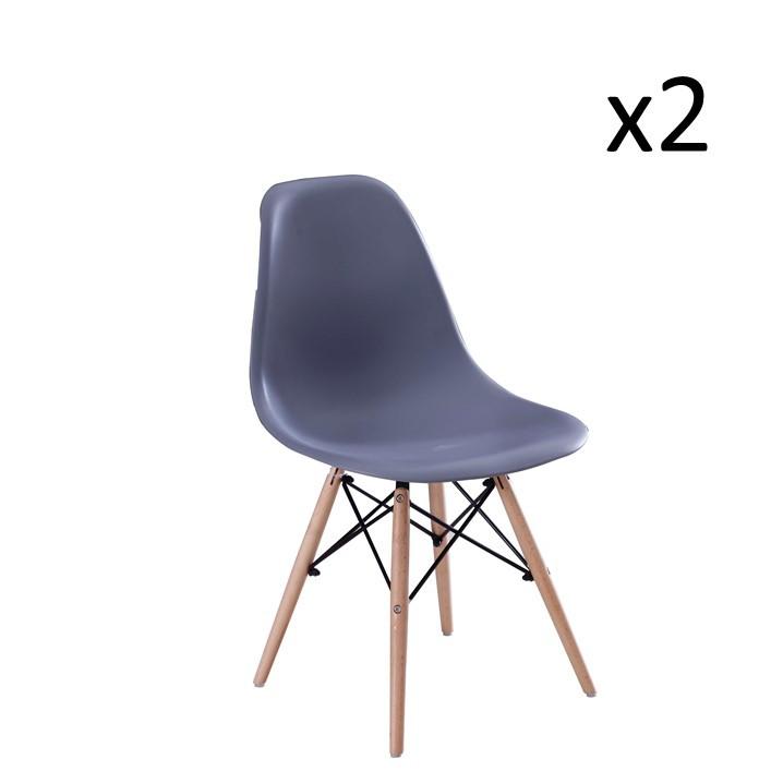Chaise Manda Set de 2 | Gris