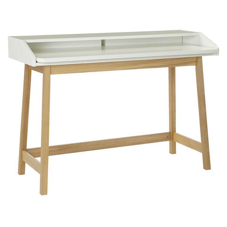 Kompakter Schreibtisch St. James | Weiß