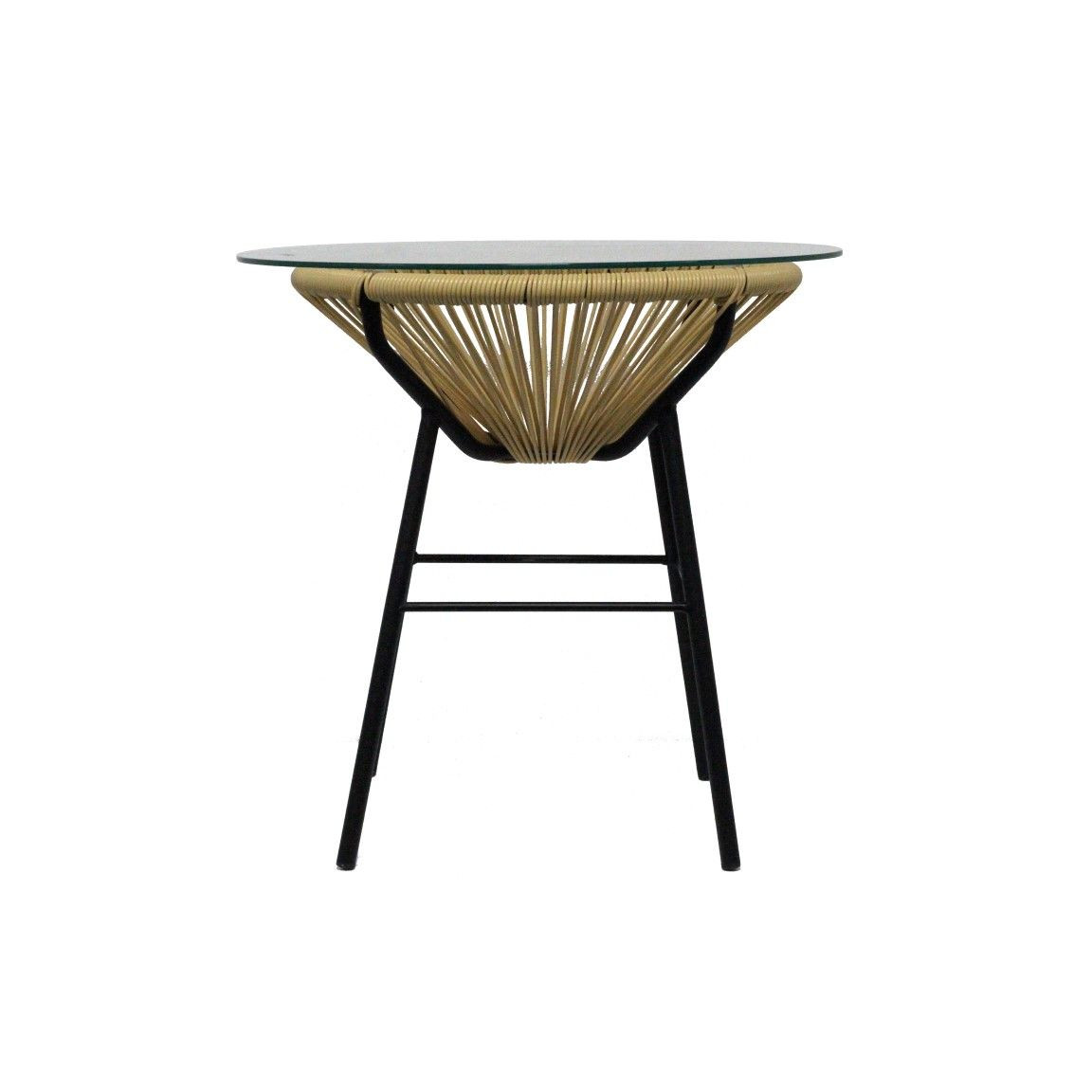 Sumatra Woven Side Table   Beige