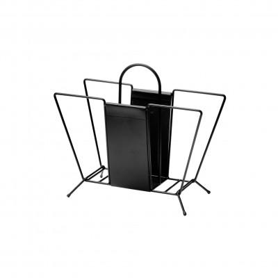 Zeitungsständer Suitcase | Schwarz