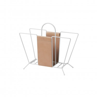 Zeitungsständer Suitcase | Weiß