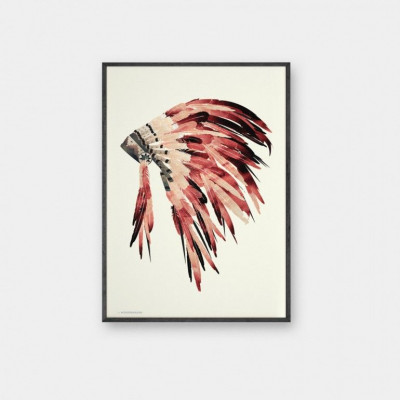 Sonnenuntergang Indianer Poster