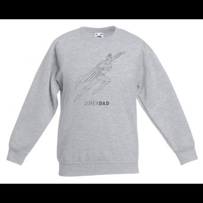 Sweater Superdad Superhero Illustration | Grey