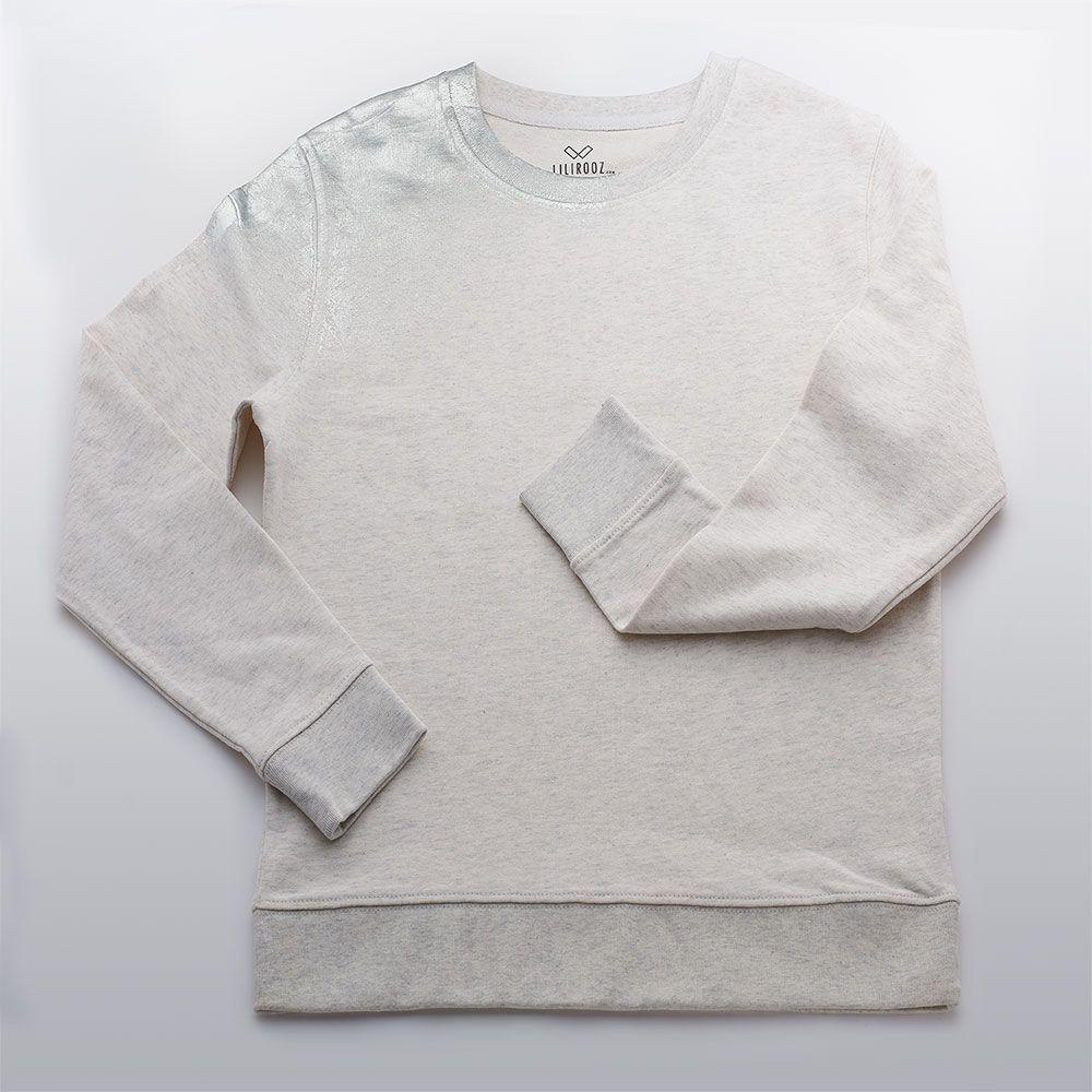 Sweater | Light Grey - Silver - Shoulder