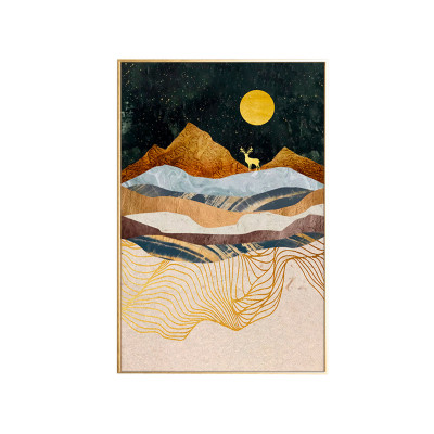 Malerei | Beige Landschaft