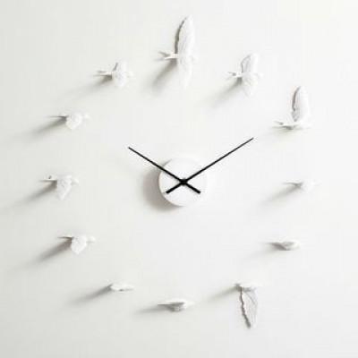 Uhr Schwalben | Weiß