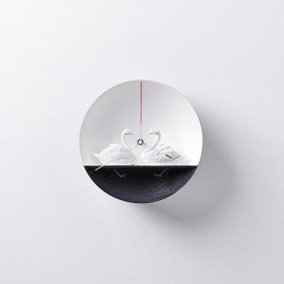 Uhr Wasservogel Schwan 01
