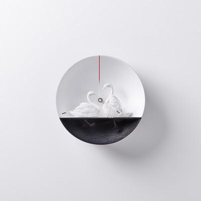 Uhr Wasservogel Schwan 02