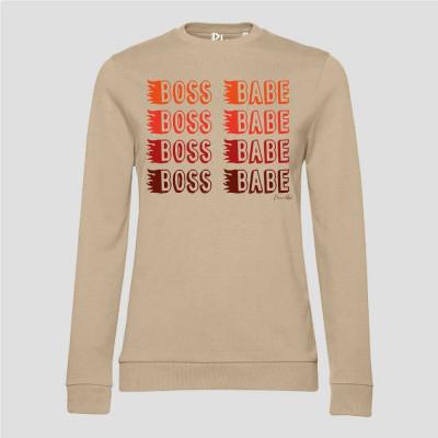 Pullover Boss Babe   Orange-Braun-Desert