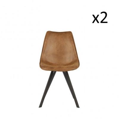 Esszimmerstuhl Swen | 2er-Set | Cognac
