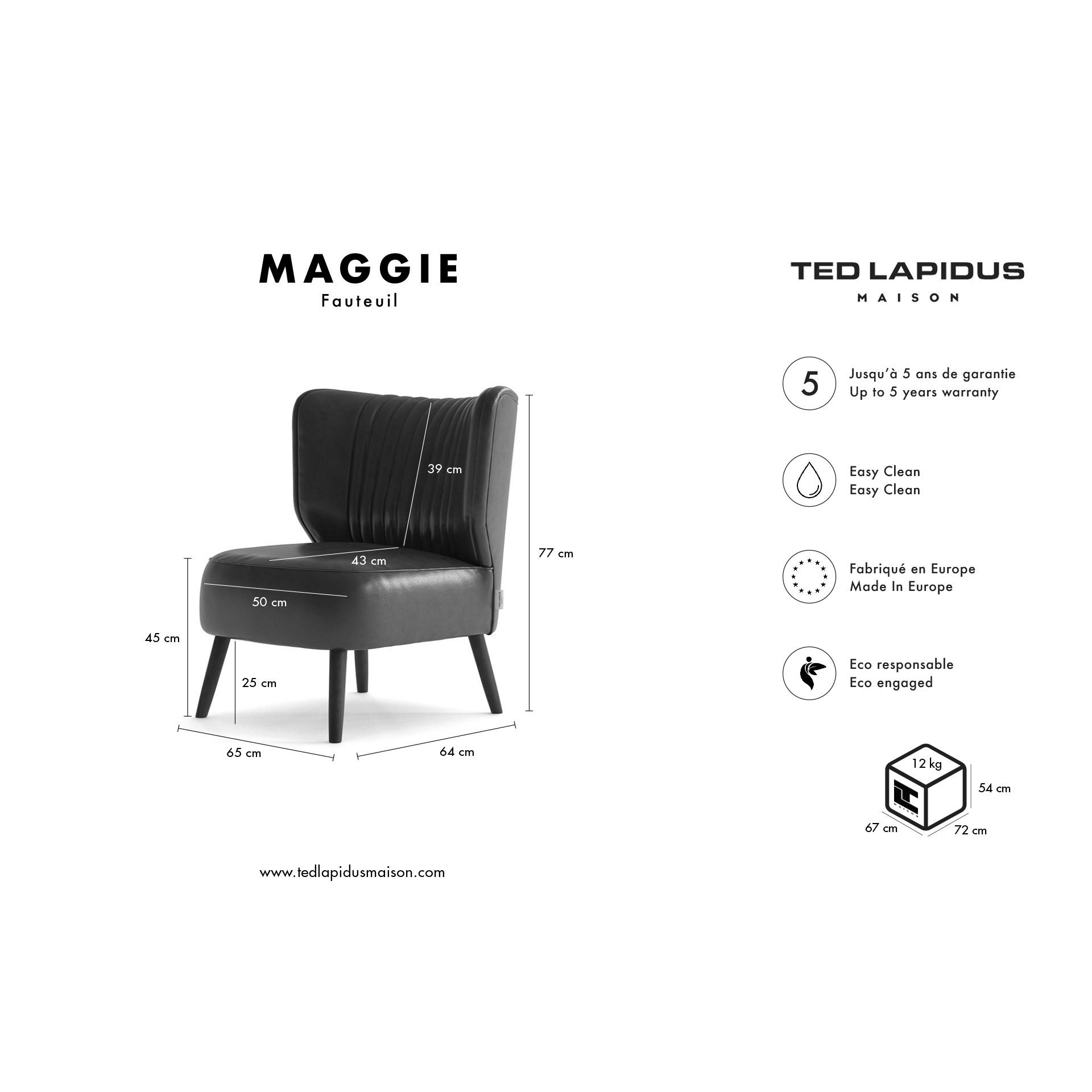 Fauteuil Maggie   Bordeaux