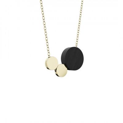 Halskette Syntaks | Schwarz & Gold