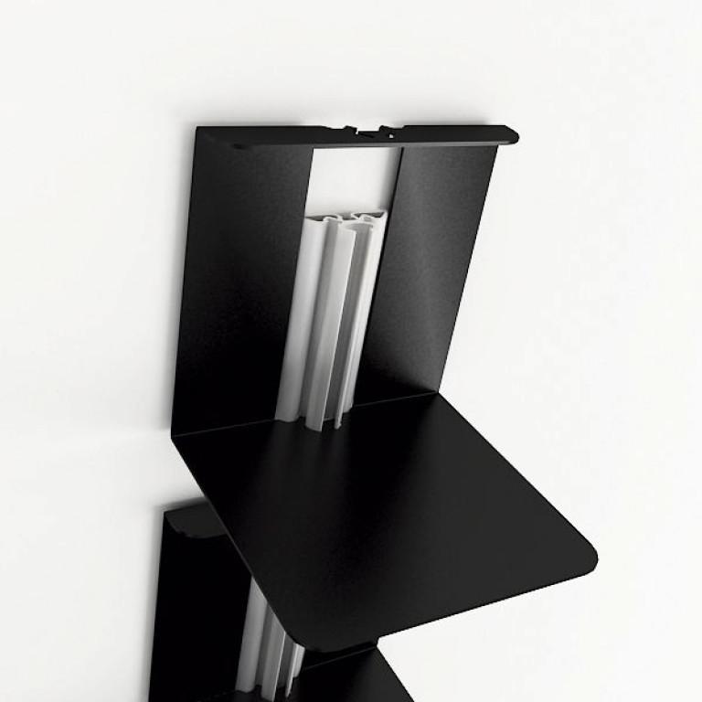 Usio Magazine Rack Wall Black