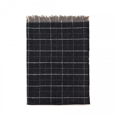 Schal Classic Checkerboard | Dunkelgrau