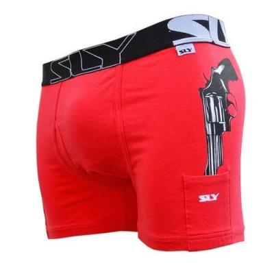 Baumwoll-Boxer-Slip   Cop-Ausgabe Rot