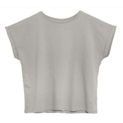T-Shirt Baumwolle   Hellgrau