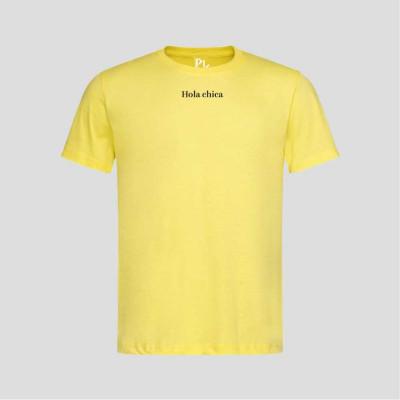T-Shirt Hola Chica   Gelb