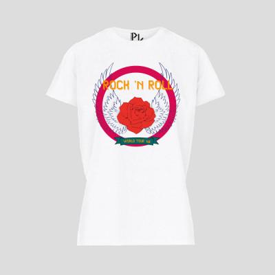 T-Shirt Rock N Roll   Weiß