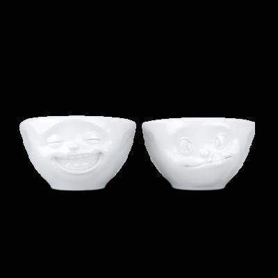 2er-Set Kleine Schüsseln Nr.3 100 ml Tasty & Snoozy | Weiß