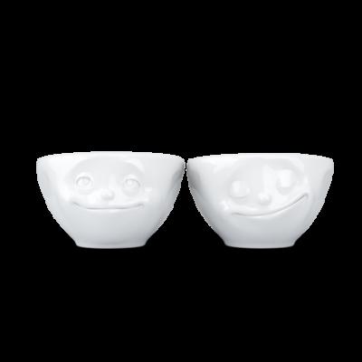 2er-Set Kleine Schüsseln Nr.2 100 ml Dreamy & Happy| Weiß