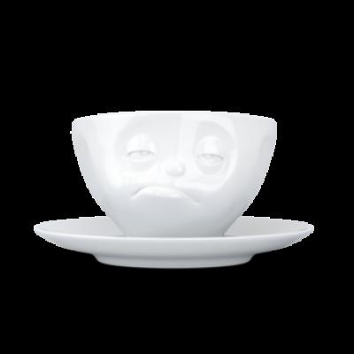Kaffeetasse und Untertasse Snoozy   Weiß