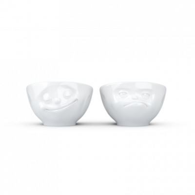 2er-Set Eierbecher Happy & Hmpff | Weiß