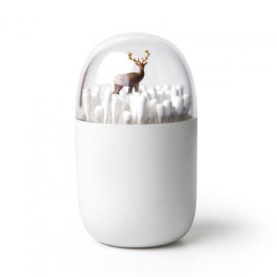 Wattestäbchenhalter Hirsch | Weiß