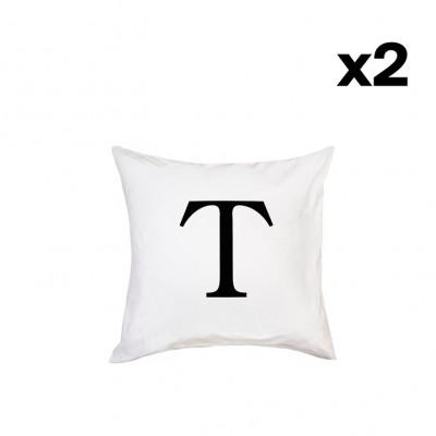 2er-Set Kissenbezügen | T