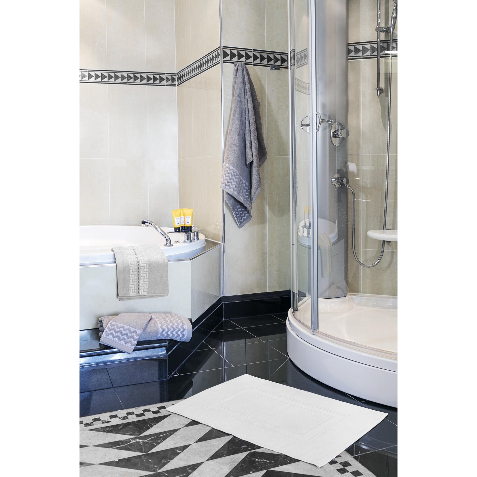 Tapis de bain James | Blanc