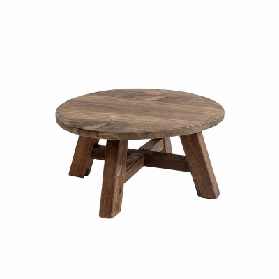 Couchtisch Recycelt | Dunkles Holz