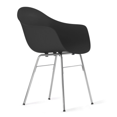 TA Arm Chair with Er Base | Black