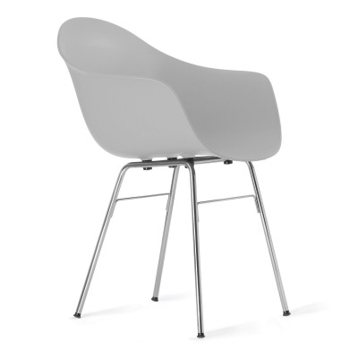 TA Arm Chair with Er Base | Light Grey