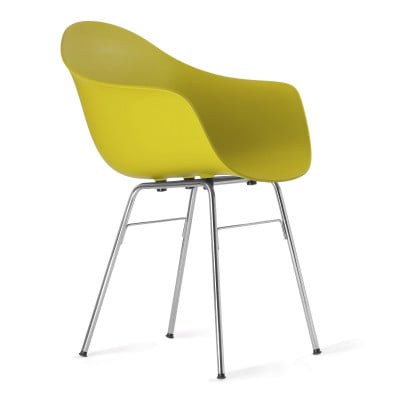 TA Arm Chair with Er Base | Mustard