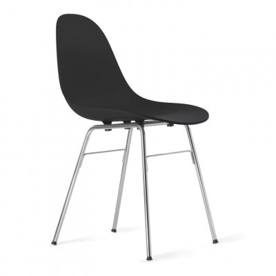 TA Side Chair with Er Base | Black