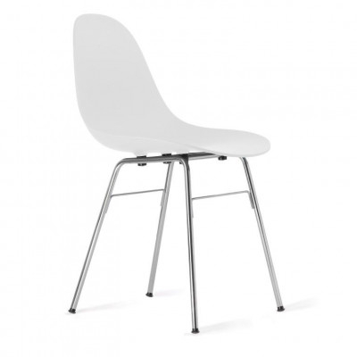 TA Side Chair with Er Base | White