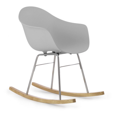 TA Arm Chair with Er Rocking Base | Light Grey