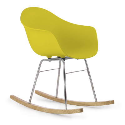 TA Arm Chair with Er Rocking Base | Mustard
