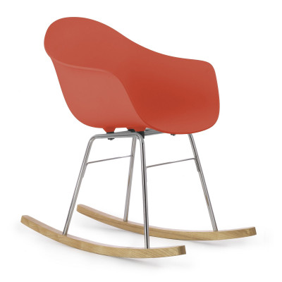 TA Arm Chair with Er Rocking Base | Red