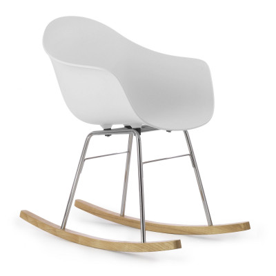 TA Arm Chair with Er Rocking Base | White