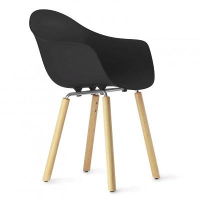 TA Arm Chair with Yi Base | Black